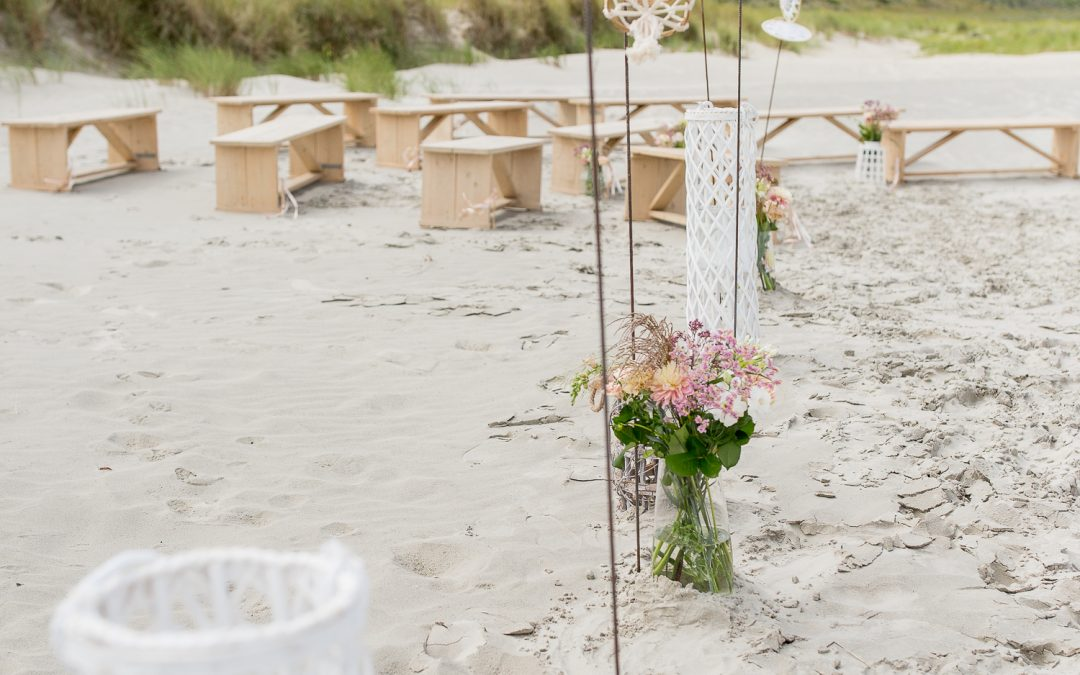 Weddingstyling op Schiermonnikoog